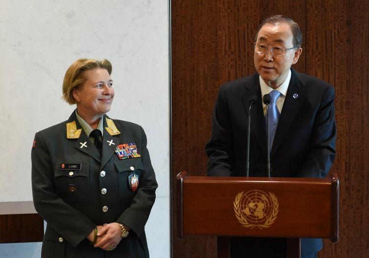 Une Norvégienne première femme à la tête d'une force de Casques bleus de l'ONU