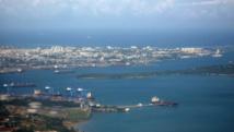Vue aérienne de Mombasa.