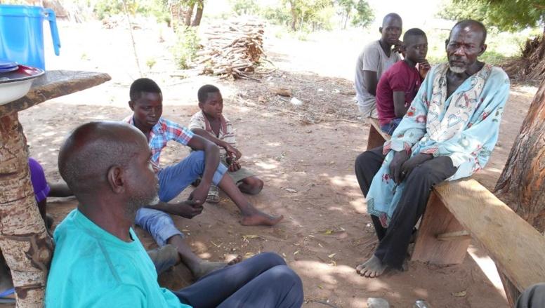 Déplacés chrétiens dans le village de Kopa après l'attaque de leur village par Boko Haram. RFI/Nicolas Champeaux