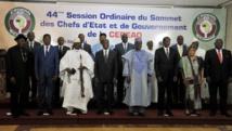 Les 15 chefs d'Etat de la Cédéao réunis ici les 28 et 29 mars à Yamoussoukro, en Côte d'Ivoire. AFP PHOTO / ISSOUF SANOGO