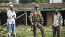 Soldat français de la force Sangaris dans le quartier musulman du PK5 de Bangui ce samedi 31 mai 2014 AFP/Marco Longari