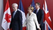 Suite et fin du G7 à Bruxelles. Les dirigeants des pays les plus industrialisés sont réunis, ce jeudi midi, pour un déjeuner de travail. Et au menu des discussions, l'Ukraine domine toujours.