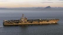 porte-avion George H.W. Bush sera déployé dans le golfe Persique. REUTERS/U.S. Navy/Lt. Juan David Guerra/Handout via Reuters