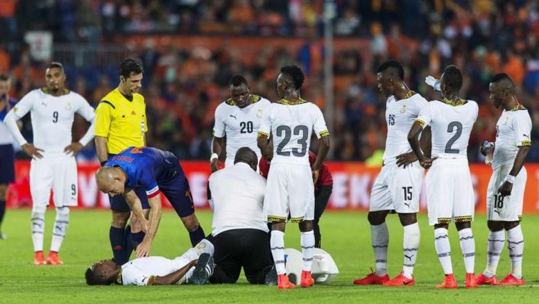 Jerry Akaminko est forfait pour la Coupe du monde 2014 après sa blessure contre les Pays-Bas. Photo: Reuters