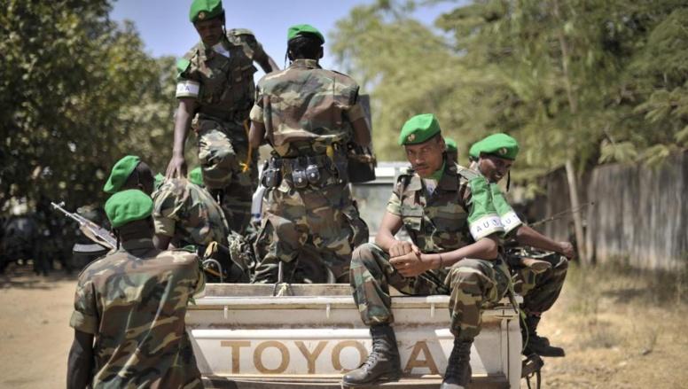 Des soldats ethiopiens qui ont intégré la force de l'Union africaine en Somalie, avant leur départ pour Baidoa, le 22 janvier 2014.
