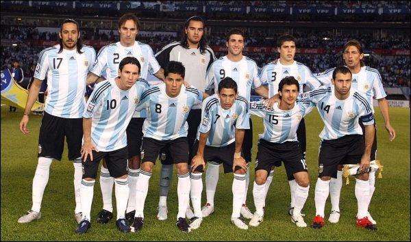 ARG La sélection argentine en deuil