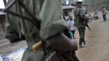 Des combattants des FDLR à Lushebere, dans l'est de la RDC, en novembre 2008. AFP PHOTO/ Tony KARUMBA