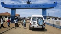 Poste frontière d'Aflao, entre le Ghana et le Togo. Getty Images/ Max Milligan