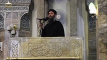 Première apparition publique d'Abou Bakr al-Baghdadi, le «calife du jihad», le 5 juillet 2014. REUTERS/Social Media Website via Reuters TV