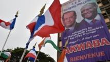Abidjan, le 16 juillet 2014. La capitale économique de la Côte d'Ivoire s'apprête à accueillir François Hollande. AFP PHOTO / ISSOUF SANOGO