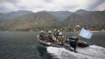 Des casques bleus de la Monusco, sur le lac Kivu, en RDC. Photo MONUSCO/Sylvain Liechti