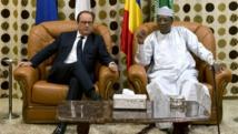 Le président français François Hollande et son homologue tchadien Idriss Déby Itno. ALAIN JOCARD / AFP