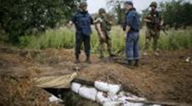 Une fosse commune découverte à Sloviansk, ancien bastion séparatiste