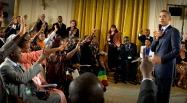 Sommet Etats-Unis - Afrique: de jeunes entrepreneurs africains rencontrent Obama