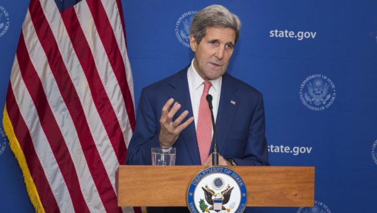 John Kerry, en déplacement en Inde, a annoncé un cessez-le-feu de 72 heures dans la bande de Gaza REUTERS/Lucas Jackson