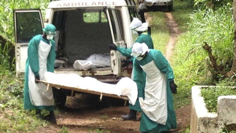 Des soigneurs transportent le corps d'une victime d'Ebola à Kenama, Sierra Leone. REUTERS/Umaru Fofana
