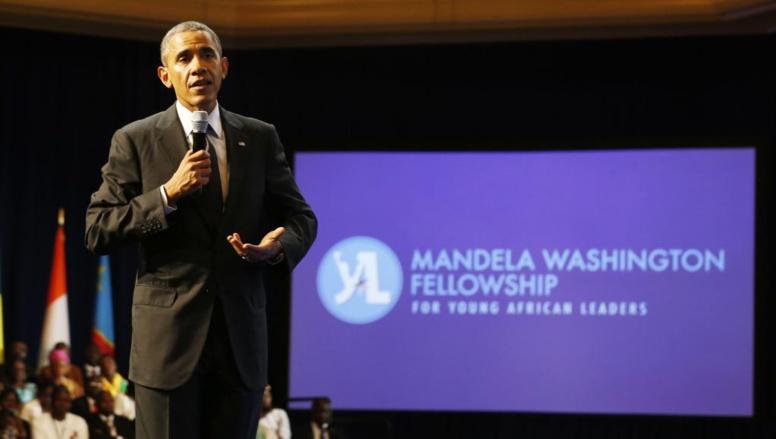 Le président Barack Obama, au sommet des jeunes leaders africains à Washington, le 28 juillet 2014. REUTERS/Larry Downing