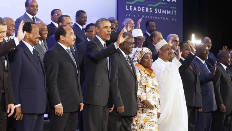 Photo de famille des chefs d'Etat, le 6 août, à Washington. REUTERS/Jonathan Ernst