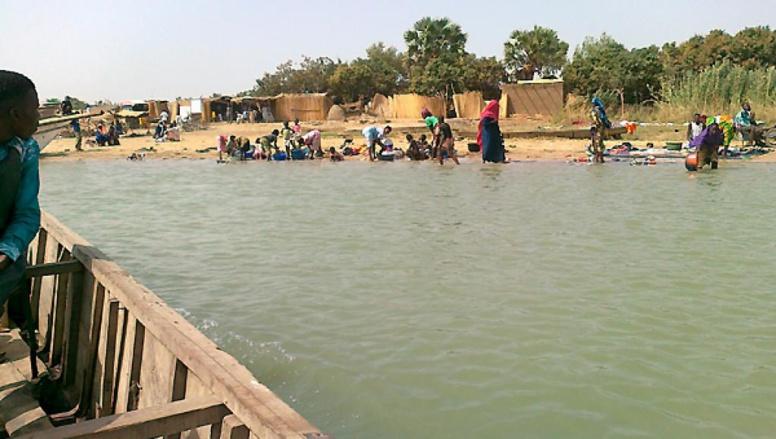 L'île de Kinasserom, sur le lac Tchad (Archives). RFI/Sayouba Traoré