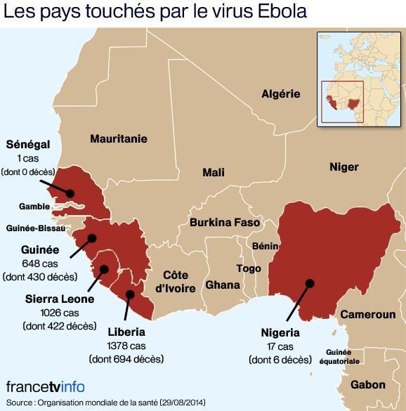 Le Sénégal rejoint la carte des pays touchés par EBOLA
