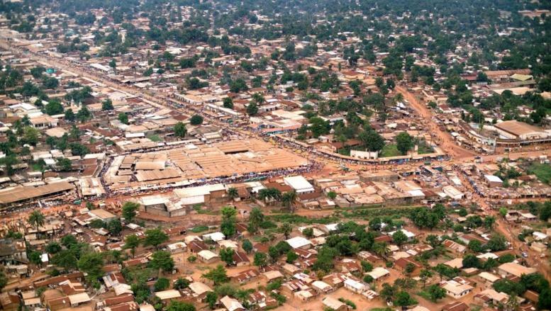 Vue aérienne de Bangui, RCA. Getty Images/ Michael Fay