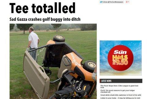 Insolite : Quand Paul Gascoigne crashe une voiturette de Golf