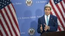 Le secrétaire d'Etat américain John Kerry lors d'une conférence de presse à Ankara, vendredi 12 septembre. REUTERS/Brendan Smialowski