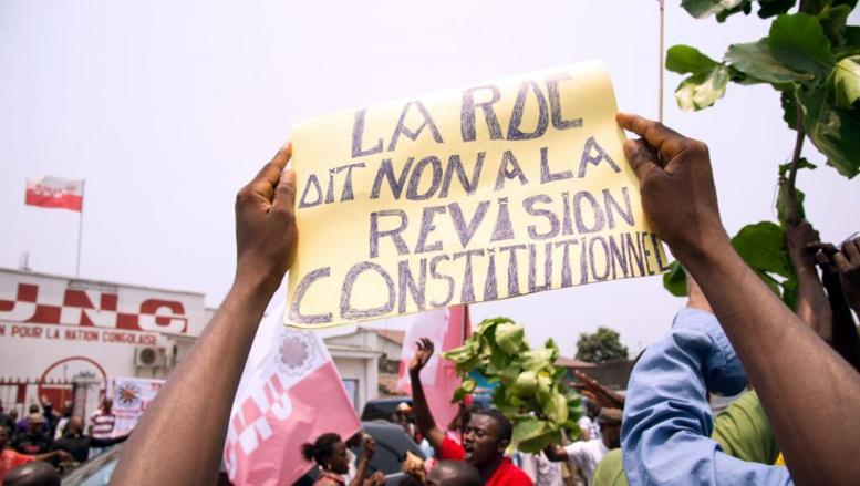 Manifestation à Kinshasa contre le projet de révision de la Constitution, le 13 septembre 2014. AFP PHOTO / Junior D. Kannah