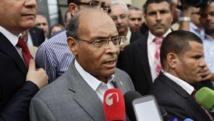 Moncef Marzouki a annoncé sa candidature à sa succession devant les médias, à Tunis le 20 septembre 2014