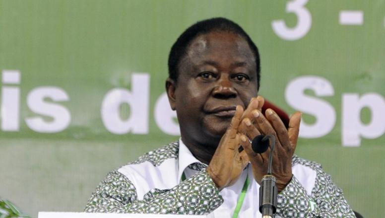 Henri Konan Bédié a appelé à soutenir Alassane Ouattara pour la présidentielle de 2015. AFP PHOTO / SIA KAMBOU
