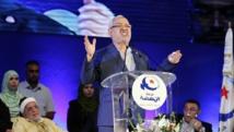 Rached Ghannouchi, chef du parti islamiste tunisien Ennahda, s'adresse à la presse après la présentation du programme électoral de son parti, ce mardi 23 septembre 2014. REUTERS/Anis Mili