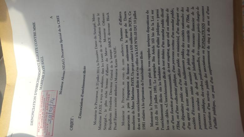 Dernière minute:  la CREI  a reçu la plainte contre Marème Faye Sall (Vidéo et documents)