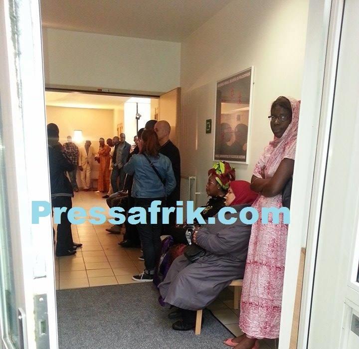 Exclusivité Pressafrik- Photos de la levée du corps d'Oumar Maal en Belgique