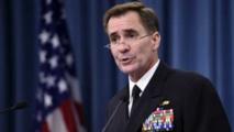 ''Les Etats-Unis examinent les besoins au jour le jour'', a indiqué le contre-amiral John Kirby.