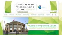 Sommet mondial des régions pour le climat (capture d'écran) http://regions-climate.org/fr/