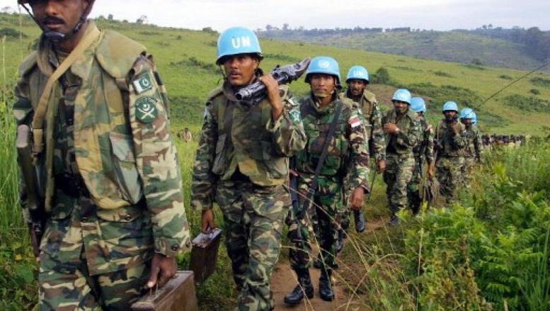 Casques bleus pakistanais dans l'Ituri, au nord-est de la RDC, en 2003. AFP/Simon Maina