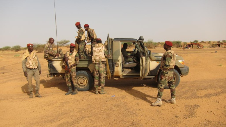 Patrouille de l'armée malienne dans la région de Gao. La localité de Ntililte est située à une centaine de kilomètres de la ville de Gao dans le Nord. Olivier Fourt/RFI