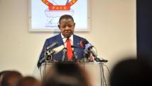 Le ministre de la Communication et porte-parole du gouvernement de la RDC, Lambert Mendé. AFP PHOTO / JUNIOR D. KANNAH
