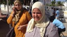 Sidi Bouzid, le 20 octobre 2014. Mbarka Brahmi, veuve du député Mohamed Brahmi assassiné en juillet 2013, est candidate Front populaire (gauche nationaliste) à Sidi Bouzid.