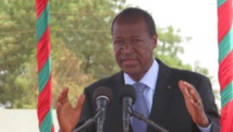 Le président burkinabè, Blaise Comparoré, à Réo, le samedi 10 mai, au Burkina Faso. RFI/ Yaya Boudani