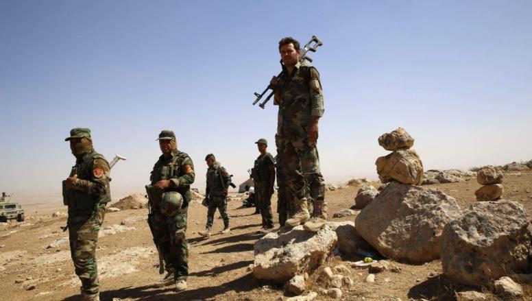 Des combattants peshmergas en Irak, le 8 septembre 2014. REUTERS/Ahmed Jadallah