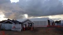 Elwa 3 à Monrovia au Liberia, le plus grand centre de traitement au monde pour les malades d'Ebola. RFI / Sébastien Németh