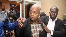 L'ancien ministre de la Défense Moïse Lida Kouassi, après son extradition du Togo, le 6 juin 2012, à Abidjan. AFP PHOTO / IVORIAN GOVERNMENT PRESS/ HANDOUT