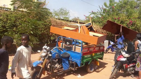 Burkina : Scène de pillage à l'hôtel Azalaï de Ouaga