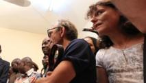 Ghislaine Dupont et Claude Verlon, le 30 juillet 2013 lors d'une conférence de presse au Mali. RFI/Pierre René-Worms