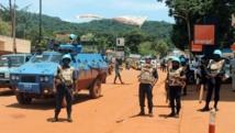 Une patrouille de la Minusca à Bangui, au début du mois d'octobre 2014. AFP/PACOME PABAMDJI