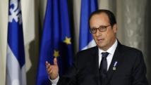 Le président français François Hollande lors de son intervention à Québec, le 3 novembre 2014. REUTERS/Mathieu Belanger