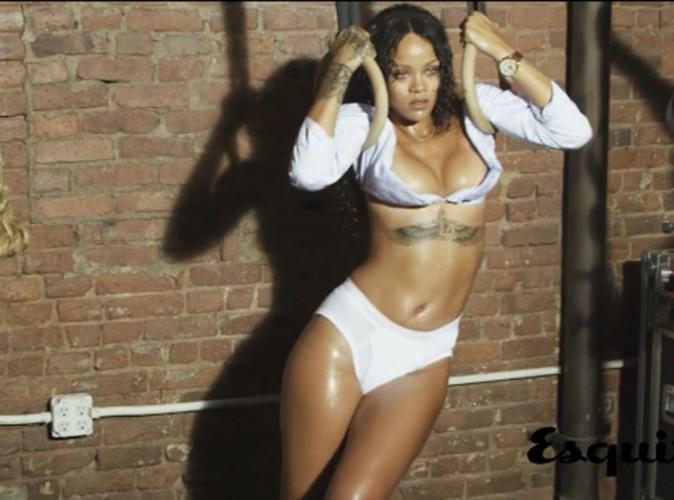 Rihanna : découvrez les coulisses hot de son shooting sexy pour Esquire !