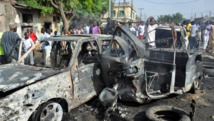 L'Etat de Borno, au Nigeria, est particulièrement touché par les violences commises par Boko Haram. Ici, après un attentat ayant fait 15 morts à Maiduguri, capitale de l'Etat de Borno, le 1er juillet 2014. AFP PHOTO/STRINGER