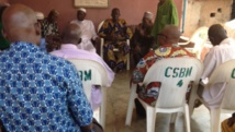 L'assemblée des conseillers du roi des Bobo Mandaré à Bobo Dioulasso, le 8 novembre 2014. RFI / Nicolas Champeaux